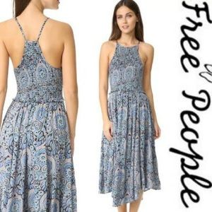 NWT Free People Seasons in the Sun Midi Sun Dress